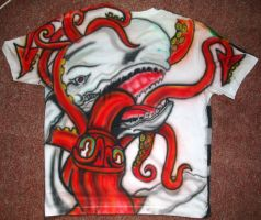 Back of freehand Airbrushing T-Shirt..W.I.P 1 by RealityBitez