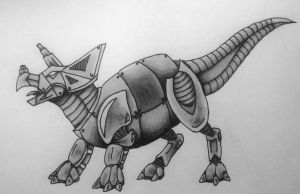 Mechanical Triceratops by RebelInABox