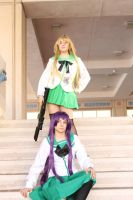 metrocon 2012: saeko and rei by AkwardStranger