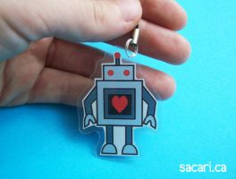 Robot Phone Charm by Sacari