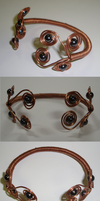 Copper Wire and Magnetic Hemitite Bracelet by TDGG
