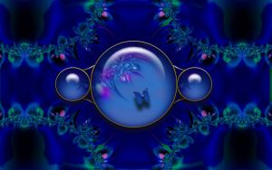 Abtract background Blue Gems by christara