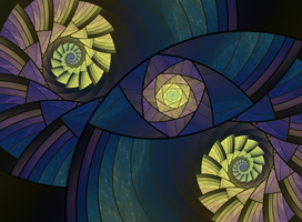 Stained Glass Round by SuicideBySafetyPin