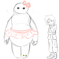 Baymax and Hiro by StarCandyz