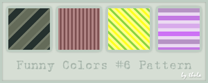 Funny Colors vol.6 Pattern by ThulaMarquise