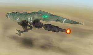 Low altitude fighter, Lania302 by Waffle0708