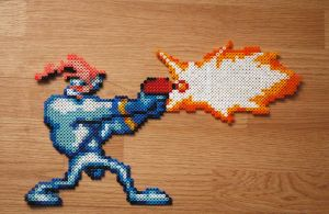 Earthworm Jim Perler by Pixel-Me-This