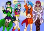 Four Heavenly Queens in Gourmet World by yinyi123