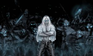 Arthas with army by anawind