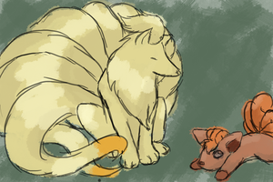Vulpix and Ninetales colored by TheDyingVisionary