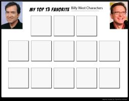 My Top 13 Favorite Billy West Characters-blank by Toongirl18