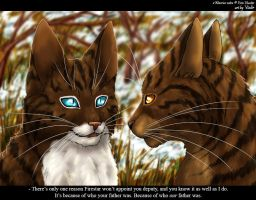 Hawkfrost and Brambleclaw by Vialir