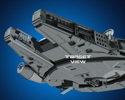 Star Wars Millenium Falcon Wip 5 by TargetView
