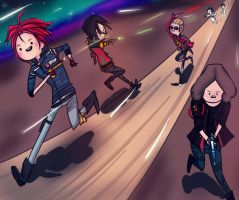 Keep running, Killjoys!_colored by mmrated