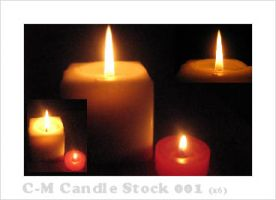 C-M Candle Stock Pack 001 by crowned-meadow