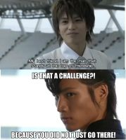 Friendship battle: Fourze vs Sasword by stickinaroundforever
