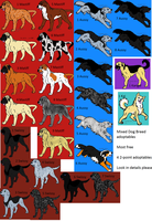 SALE Free dog adoptables CLOSED by Wolfs-Hybrid