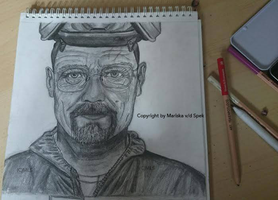Walter White Drawing by Riissie
