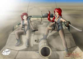 Tanker-girls by Panzerfire
