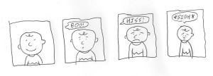 The Four Moods of Charlie Brown by dth1971