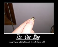 One Ring Demotivational poster by Amisca