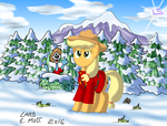 The Mounted Pony Applejack by Lars99