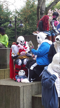 Sans reads to Papyrus by UltySo