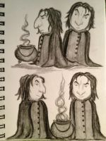 Snape sketches by KatjaFin