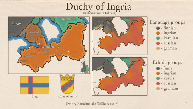 Duchy of Ingria (Union of F.K.I) by Willkozz