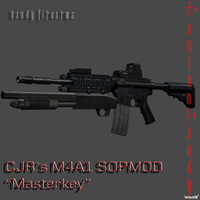 Christopher JRedfield's M4A1 SOPMOD w/Masterkey by DamianHandy