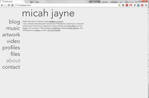 Micah Jayne Website by MegaJohnnyLeft