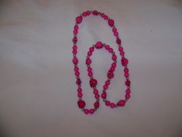 DB8 Pig Sweetener Pink Necklace by LadyRhianwriter