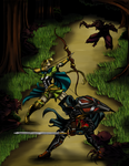 Ambush in the Woods -Colored (Contest Entry) by uberwekkness