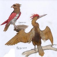 021 Spearow and 022 Fearow