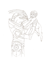 Garrus and child by SadlyLover