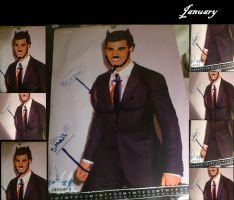 The Improved Taylor Lautner Calender -January by Tumbleweed-girl