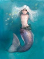 Little Mermaid spot illustration by Lovettart