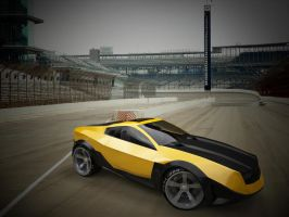 Camaro SS concep front view 3D by yamell