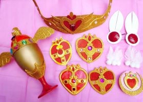 My Handmade Sailor Moon R and S Season Accessories by SailorSamara