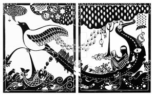 Flight and Solitude (diptych) by twistedstairs