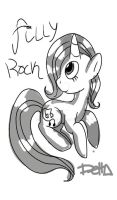 rock filly, tablet sketch by Delta-kitty