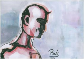Daredevil portrait by oluklu