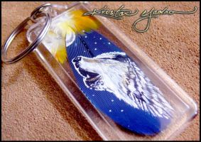Feather Painting Keychain 40 by dittin03