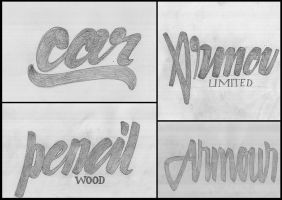 hand lettering sketches by Mohsin-yasin