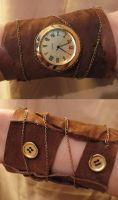 Steampunk Armband by softlydreaming
