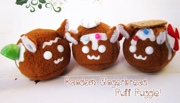 Gingerbread Puff Puggles 2016 by callykarishokka