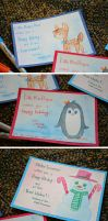 ~Little Miss Penguin and Friends Christmas Cards~ by CoffeeCupPup