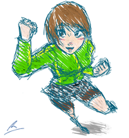Chie actiony pose by borockman