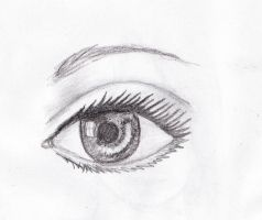 Realistic eye sketch by Terezalilo