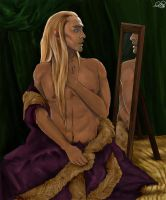 Thranduil with a Mirror by PsamathosPsamathides